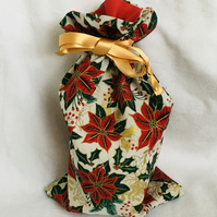 Reusable Drawstring Christmas Gift Bag, Gift Bag, Christmas Gift Ideas.