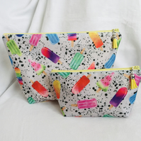 Colourful Bag Set, 2 Piece Bag Set, Wash & Make up Bag Set, Gift Ideas.
