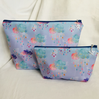 Nice Bag Set, Toiletries and Cosmetic Bag Set, 2 Piece Bag Set, Gift Ideas.