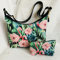 Tropical Boho Bag, Zip Pouch, Matching Set, Shoulder Bag & Purse, Gift Ideas.