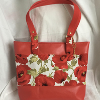 Poppies Shoulder Bag, Red Handbag, Stunning Shoulder Bag, Gift Ideas.