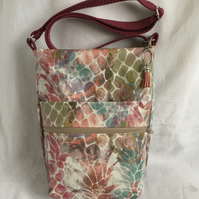 Unique Crossbody Bag, Oilcloth Shoulder Bag, Walking Bag, Gift Ideas.