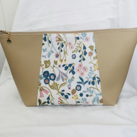 Large Wash Bag, Unique Toiletries Bag, Large Zip Pouch, Gift Ideas.