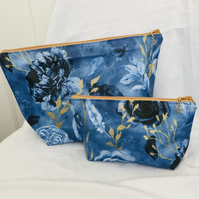 Beautiful Zip Bag Set, 2 Piece Set, Matching Bag Set, Gift Ideas.