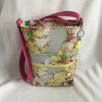 Bunnies Crossbody Bag, Walking Bag, Hands Free Bag, Cute Bag, Gift Ideas.