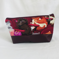 Cats Make Up Bag, Fun Cosmetic Bag, Zip Pouch, Gift Ideas.