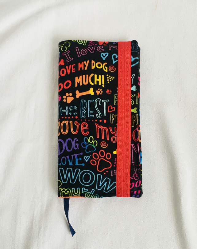 Slimline 2021 Diary, Fabric Covered Diary, Reusable Cover, Gifts for Dog Lovers.