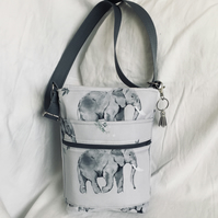Stunning Water Resistant Crossbody Bag, Small Shoulder Bag, Cross body Bag.