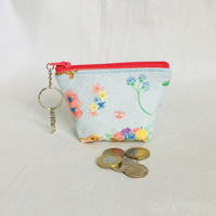 Keyring Clip Small Zip Pouch, Keychain Coin Purse, Small Coin Purse, Gift Ideas.