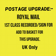 Postage Upgrade to Next Day Postage only!