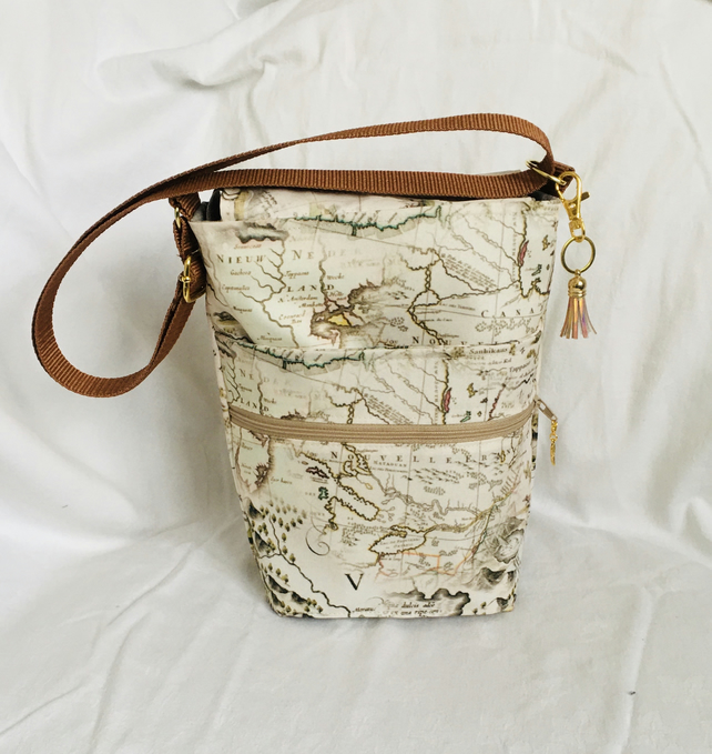 Unique Crossbody Bag, Walking Bag, Water Resistant Shoulder Bag, Gift Ideas.