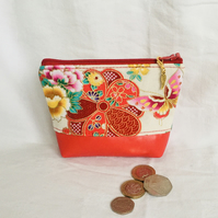 Small Coin Purse, Zipped Coin Purse, Colourful Small Purse, Small Zip Pouch.
