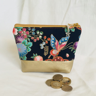 Zipped Coin Purse, Pretty Zip Purse, Small Coin Purse, Zipped Pouch, Gift Ideas.
