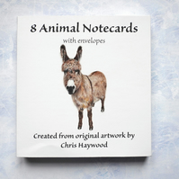 8 Animal Notecards, Wildlife Notelets