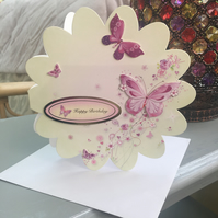 Funky flower shaped exploding birthday card.