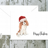 Cavalier King Charles Spaniel Folded Christmas Cards - pack of 10 - personalised