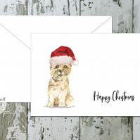 Cairn Terrier Folded Christmas Cards - pack of 10 - personalised