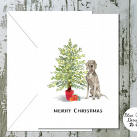 Weinmaraner Dog Folded Christmas Cards - pack of 10 - personalised