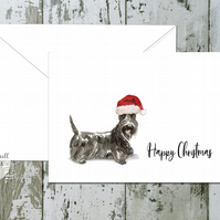 Scottish Terrier Folded Christmas Cards - pack of 10 - personalised