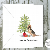 Bloodhound Folded Christmas Cards - pack of 10 - personalised