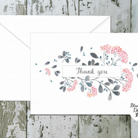 Thank You Cards - Serenity Floral Centre - pack of 10 - personalised