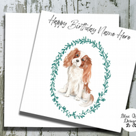 Personalised Birthday Card - Canine Capers - Cavalier King Charles Spaniel