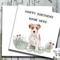 Personalised Birthday Card - Canine Capers - Wire Haired Jack Russell