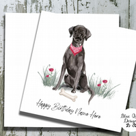 Personalised Birthday Card - Canine Capers - Black Labrador