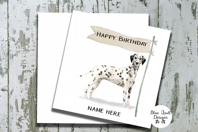 Personalised Birthday Card - Canine Capers - Dalmation