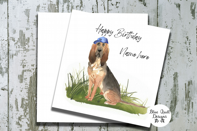Personalised Birthday Card - Canine Capers - Bloodhound