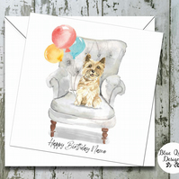 Personalised Birthday Card - Canine Capers - Cairn Terrier