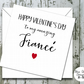 Valentines Day Typography Card - Fiancé or Fiancée