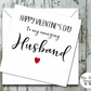 Valentines Day Typography Card - Husband or Wife