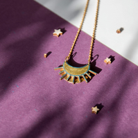 Laser Cut Celestial Sun Necklace