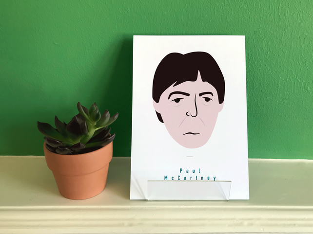 Paul McCartney , Beatles A5 Art print