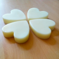 ONE Handmade Natural Solid Lotion Moisturising Bar Unscented Love Heart Shaped