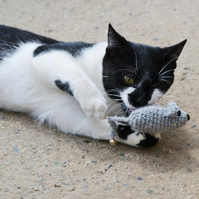 Hand Crochet Mouse Cats Play Toy Catnip or No Catnip