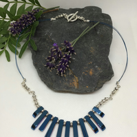 Blue Coated Haematite Necklace Item Code N1016