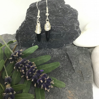 Agate Wire Wrapped Earrings Item Code E711