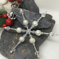 Silver Snowflake Hanging Decoration Item Code D6