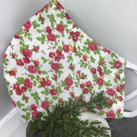 Red floral Face Covering Item Code FC16