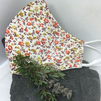 Autumn Colours Floral Face Covering Free P&P