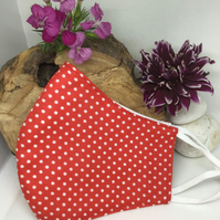 Red Spotty Face Mask Free P&P