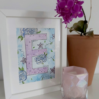 Personalised Initials Painting