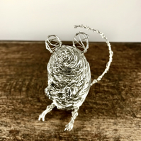 Wire Mouse Sculpture