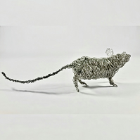 Wire Mouse Sculpture  - Cautious Mouse