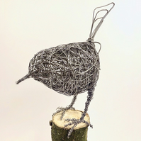 Wire Bird Sculpture - Robin