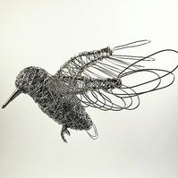 Wire Bird Sculpture - Kingfisher