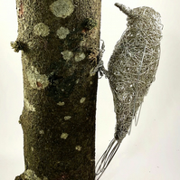 Wire Bird Sculpture - Woodpecker