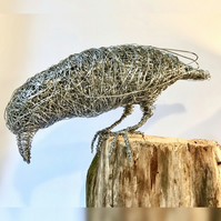 Wire Bird Sculpture - Crow